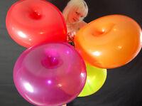 "3 x Qualatex 16"" DONUT-Luftballons in gemischten Kristallfarben ♥CRYSTAL TONES♥"