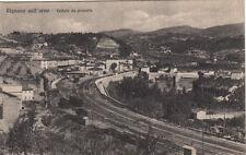 NP0326 - RIGNANO SULL'ARNO FIRENZE - VEDUTA FERROVIA TRENI VIAGGIATA 1946