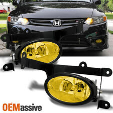 Fits 06-08 Civic 2 Doors Coupe Bumper Driving Yellow Fog Lights w/Switch + Bulbs