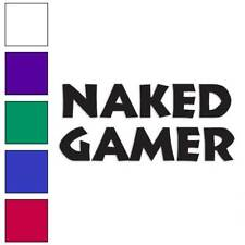 Naked Gamer Decal Sticker Choose Color + Size #1185