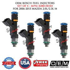 SET OF 4 OEM BOSCH Fuel Injectors for 2006-2015 MAZDA 2.0L/2.3L I4 #0280158103