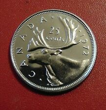 1972 CANADA quarter dollar twenty five 25 cents cent piece coin PL Proof Like