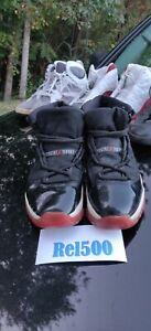 Nike Air Jordan 11 Bred Sz 9. 5  XI 11 Retro VINTAGE 2001 136046-061**BEATERS**