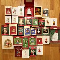 Lot of 32 Hallmark Keepsake Christmas Tree Ornament Santa Snowman Frosty Friend