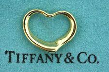 "Tiffany & Co. Open Heart Pendant Elsa Peretti 18k Yellow Gold Vintage 22mm 7/8"""