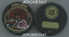 MINNESOTA WILD 2002-2003 vs #5 COLUMBUS BLUE JACKETS PUCK - #ABL