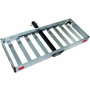 """TRICAM ACC-2F CARGO CARRIER Folding ALUMINUM For 2"""" Hitch"""