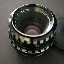 A. Schacht Ulm EDIXA S - TRAVELON - A 50mm f1,8 - M42 zebra lens made in Germany