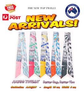 NEW AMIGO Multi-Use Mini Scarf Twilly Headband Bag Handle Tie Bow Band Wrap JJSN