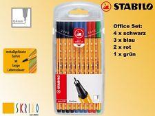 Stabilo Point 88 Fineliner - Der Klassiker - in 10 Farben, Office Set - NEU -