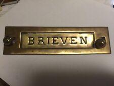 Vintage Brass 'BRIEVEN' Letter Mail Slot for Door ~ Germany ~ HW44