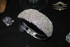 Bijoux de mariage BANGLES strass qualité Bracelets d'or zirconia ARGENT/Blanc