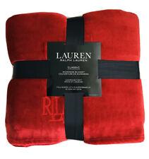 Nwt! Ralph Lauren Classic Micromink Luxurious Blanket Full/Queen Cranberry Red
