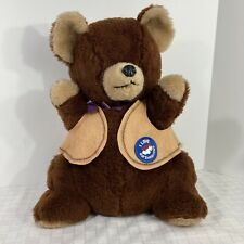 """Toasten T Bear Kraft Marshmallow Plush Teddy Bear Russ 1981 Stuffed 18"""""""