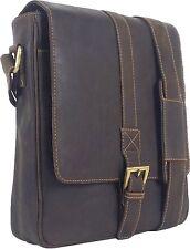 UNICORN Real Leather iPad, Kindle, Tablets & Accessories Messenger Bag Brown #5J