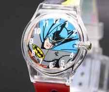 Calidad Dibujos animados Plástico Reloj De Pulsera Batman Robin Para niños Y[