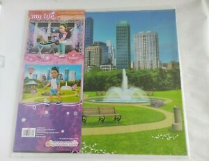 NEW My Life As Reversible Background City Park & DJ Dance Stage Studio for Dolls