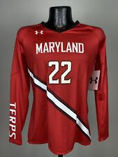 Women's Under Amour Maryland Terps Volleyball #22 Long Sleeve Jersey Small