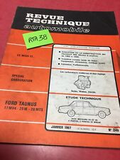 Revision Technik Automobil Ford Taunus 17MV4 20M 20MTS RTA Edition 1967