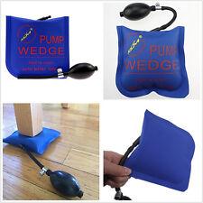 Car Autos Air Pump Wedge Alignment Hand Tool Inflatable Shim Bag Cushioned Blue