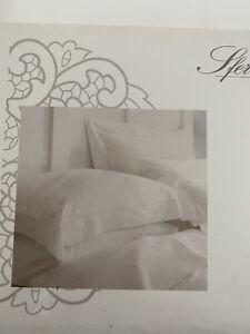 Sferra Bros 500 TC White Sateen King   Sheet Set