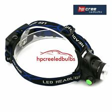 NEW  2018 REAL 2000LM T6 CREE XML LED RECHARGEABLE HEAD TORCH HEADLIGHT ZOOMABLE