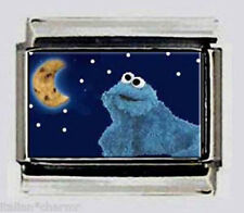 COOKIE MONSTER SESAME STREET 9mm Italian Photo Charms fOr modular style bracelet