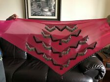 Egyptian Belly Dance Coin Beaded Hip Scarf Wrap Belt Skirt Made in Egypt Large