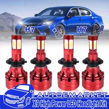 LED H7+H7 Headlight Bulbs Set for Mercedes-Benz C300 B200 C230 C250 GL350 GL450