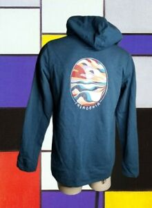 Womens L PATAGONIA Blue Goose Graphic Logo Pullover HOODIE