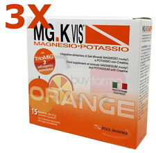 BUYFARMA PROMO PACK - 3X MGK Vis Magnesio e Potassio Gusto Arancia - 45 Bustine