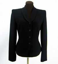 Linda Allard Ellen Tracy Womens Size 6 Blazer Black Shawl Lapel Single Breasted