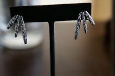 NEW Designer Rachel Zoe Silver & Crystal Tiered Pave Pod Earrings