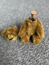 "Early Rare Antique Tiny Miniature 3.5"" Cinnamon Brown Mohair Schuco Perfume Bear"