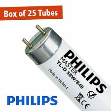 25 X Philips 58W Cool White 840 5FT (1500mm) T8 Fluorescent Tube (G13)