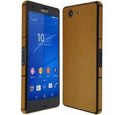 Skinomi Gold Carbon Fiber Skin & Screen Protector for Sony Xperia Z3 Compact
