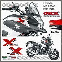 2x ADESIVI Rosso Nero compatibile con Honda NC 750 X 2011 2015 moto NC750