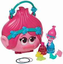 NEW! Trolls Poppy Purse Playset Costume Play Dress Up Makeup Girls Toys