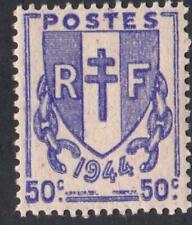 VARIÉTÉ N°:673  ( CHIFFRE 1944 EN FORT RELIEF   ) neuf ** CHAINES BRISÉES