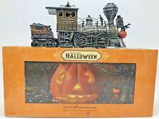 Dept 56 Halloween Snow Village Haunted Rails Engine Coal Lighted Figurine 800001