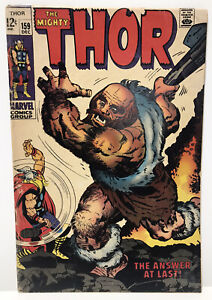 1968 Marvel Comics Group The Mighty Thor #159 Comic Book