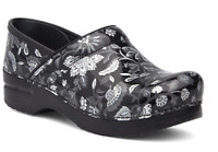 NIB Dansko Professional Leather Clog in Floral Metallic Patent