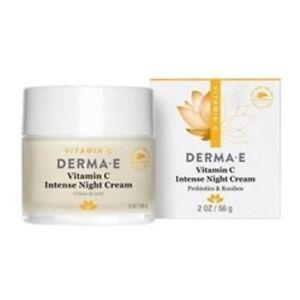 DERMA E Vitamin C Intense Night Cream 2 oz Cream White Probiotics, Rooibos NEW