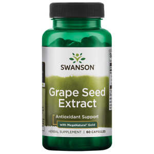 Swanson Grape Seed Extract with Meganatural Gold 60 Capsules