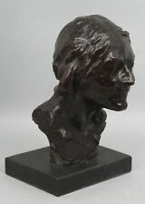 Large 19thC Antique ALFREDO PINA Life Size Bronze Bust French Woman NR