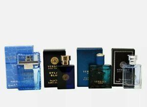 *BRAND NEW*Versace 4pc Gift Set-Men Eau Fraiche, Dylan Blue, Eros, Pour Homme