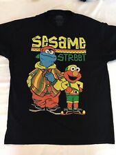 Vintage SESAME STREET Adult T-Shirt Black Size Large