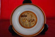 """The Art of Chokin 6 1/2"""" diameter PLATE...Butterflies and Irises"""