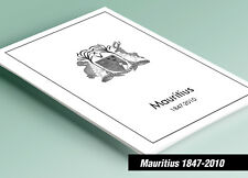 PRINTED MAURITIUS 1847-2010 STAMP ALBUM PAGES (138 pages)