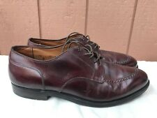 Alden Brown Burgundy Leather Cordovan Split-toe Lace Up Oxford Shoes Size 10 A1